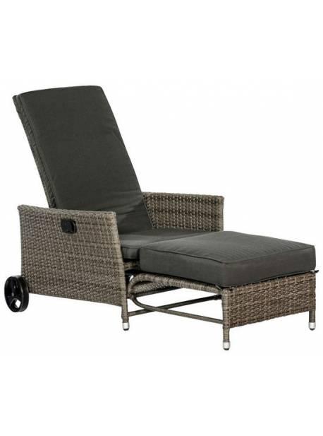 Fotoliu de grădină MERXX, Comfort Deckchair, inclusiv perne