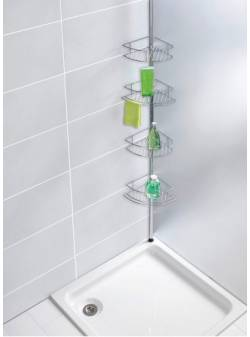 Suport telescopic pentru cabina de duș, Wenko Premium