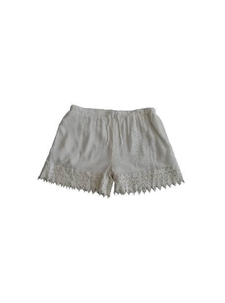 pantaloni scurti, cu dantela, albi, reken maar,