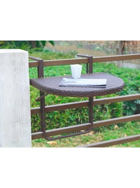 Masă suspendată pentru balcon, pliabilă, 60x50 cm