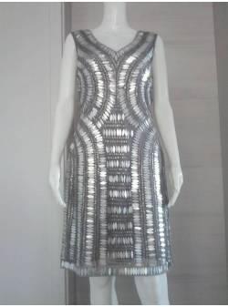 YOOM, rochie, eleganta, gri, cu paiete, S