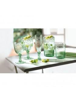 Pahare sticla verde, vin alb, set 6 buc