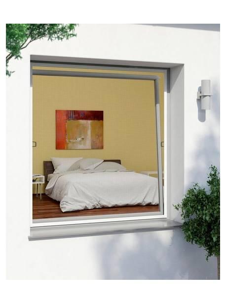 Plasă de țânțari pentru ferestre, cu ramă, 120x140, antracit