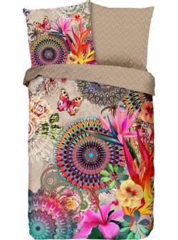 lenjerie de pat cu mandale si flori, 135x200cm