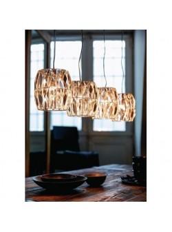 Lampa cu abajururi cristal