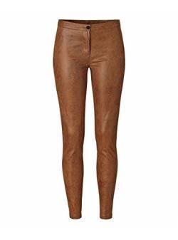 Pantaloni imitatie piele maro, odeon, mar L