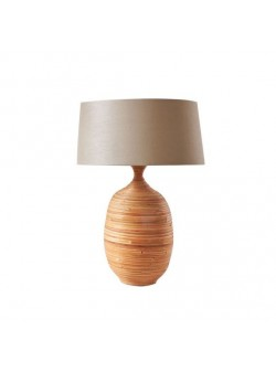 Veioza cu picior din bambus , H 65 cm