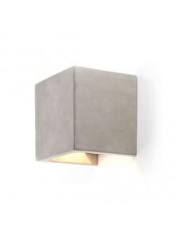 aplica electrica cubica din beton, H 14 cm
