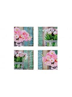 tablou cu flori, 40 x 40 cm, 2 buc