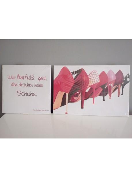 Tablou cu pantofi rosii -2 buc