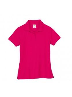 Fruit of the Loom, tricou polo, ciclam, bumbac