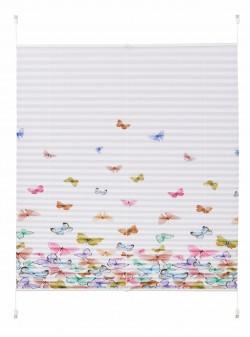 Jaluzea plisata cu fluturi, L40/H130cm, my home, indio