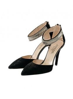Sandale piele elegante negre, sandale Conleys