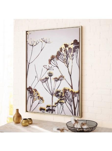 Tablou cu arta florala moderna pe panza cu cadru, L 65 xH92 cm