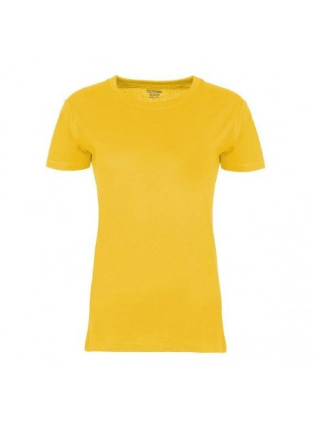 Tricou bumbac galben pentru printuri , Bodytec
